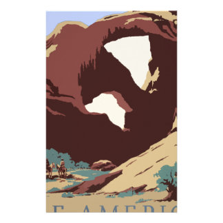 Vintage Travel Poster Southwest America USA Stationery