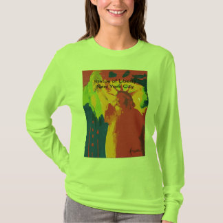 Vintage travel poster Statue of Liberty t shirt