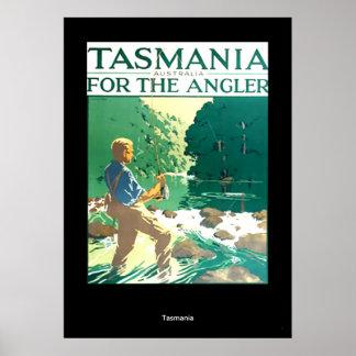 Vintage Travel Poster Tasmania Australia Poster