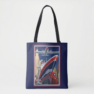 Vintage Travel Poster Tote Bag