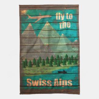 Vintage Travel Poster Towel