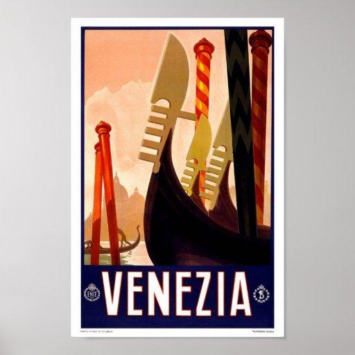 Vintage Travel Poster Venice Poster