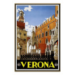 Vintage Travel Poster Verona Travel Italy