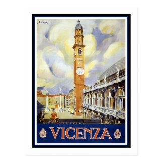 Vintage Travel Poster,Vicenza Postcard