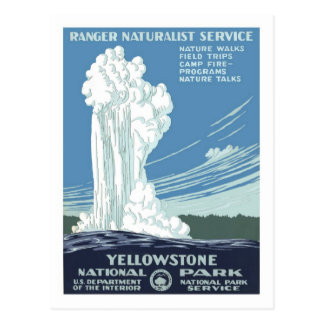 Vintage Travel Poster,Yellowstone Postcard