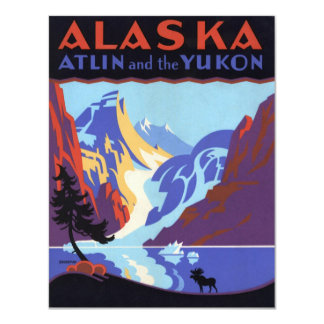 Vintage Travel Poster, Yukon, Alaska Invitation
