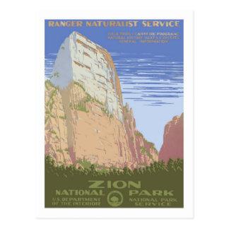 Vintage Travel Poster Zion Postcard