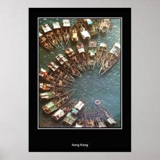 vintage Travel Print Poster Hong Kong Posters