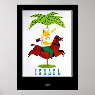 vintage Travel Print Poster Israel