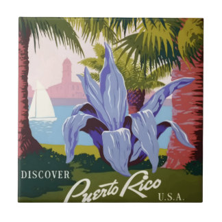 Vintage Travel Puerto Rico Tile