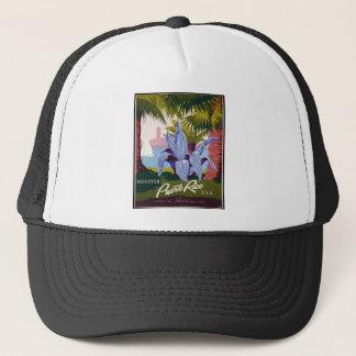 Vintage Travel Puerto Rico Trucker Hat
