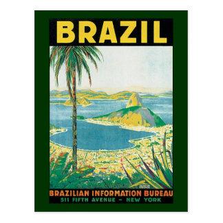 Vintage Travel Rio de Janeiro Brazil Coastal Beach Postcard