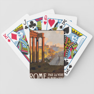 Vintage Travel Rome Italy 1920 Bicycle Playing Cards