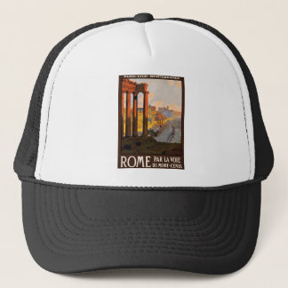 Vintage Travel Rome Italy 1920 Trucker Hat