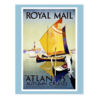 Vintage Travel Royal Mail Atlantis Postcard