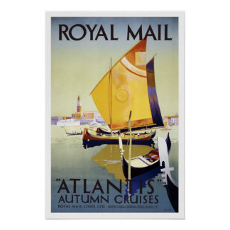 Vintage travel,Royal Mail Cruises Poster