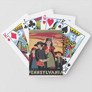 Vintage Travel Rural Pennsylvania Bicycle Playing Cards