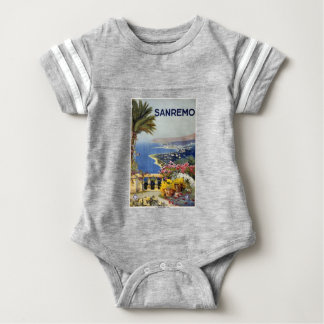Vintage Travel Sanremo Italy Baby Bodysuit