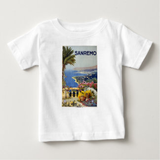 Vintage Travel Sanremo Italy Baby T-Shirt