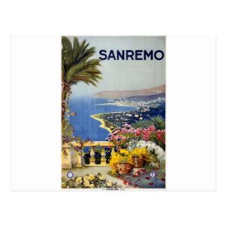Vintage Travel Sanremo Italy Postcard