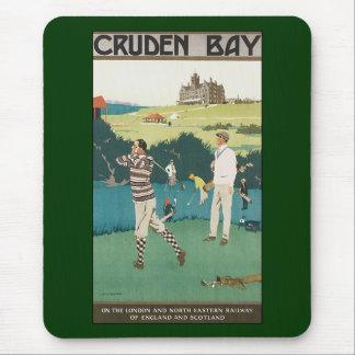 Vintage Travel Scotland Golf Golfing Golfers Sport Mouse Pad