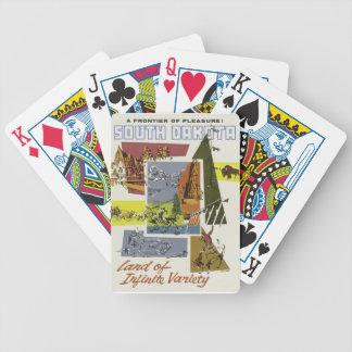 Vintage Travel South Dakota USA Bicycle Playing Cards
