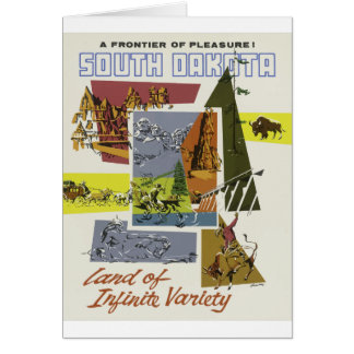 Vintage Travel South Dakota USA Card