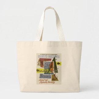 Vintage Travel South Dakota USA Large Tote Bag