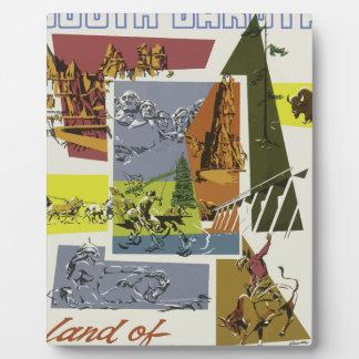 Vintage Travel South Dakota USA Plaque