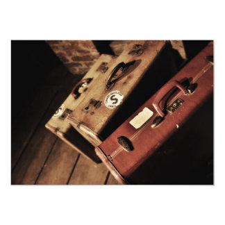 Vintage Travel Suitcases Invitations
