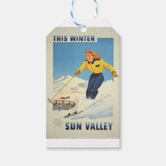 Vintage Travel Sun Valley Idaho Gift Tags