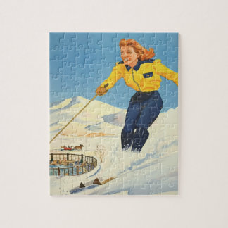 Vintage Travel Sun Valley Idaho Jigsaw Puzzle
