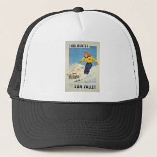 Vintage Travel Sun Valley Idaho Trucker Hat