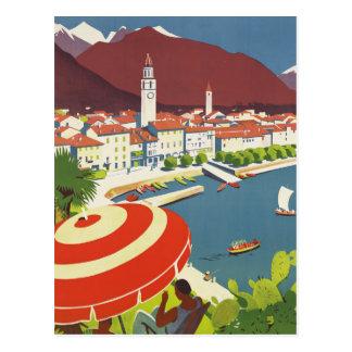 Vintage Travel Switzerland Postcard