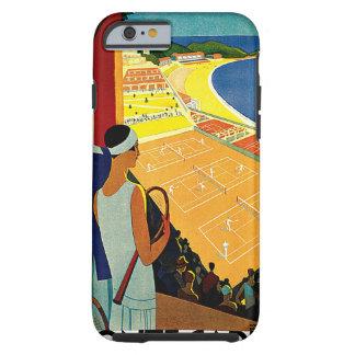 Vintage Travel, Tennis, Sports, Monte Carlo Monaco Tough iPhone 6 Case