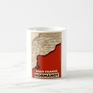 Vintage travel To Normandy, France Coffee Mug
