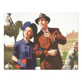 Vintage Travel Tourists on Vacation Sightseeing Invitations
