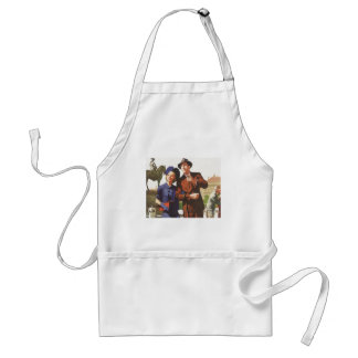 Vintage Travel, Tourists on Vacation Sightseeing Standard Apron