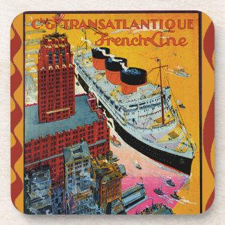 Vintage Travel - Transatlantic French Line Coaster