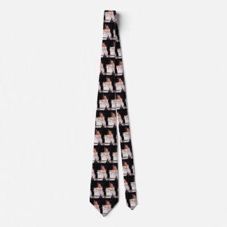 Vintage Travel Transportation Cruise Ship at Night Tie