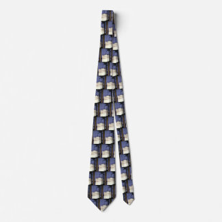 Vintage Travel Tropical Cruise Ship and Palm Trees Tie
