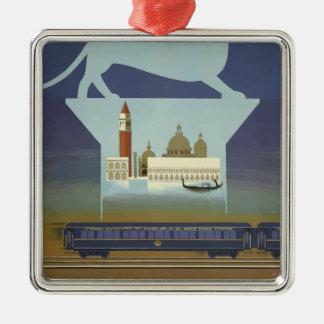 Vintage Travel Venice Orient Express Metal Ornament