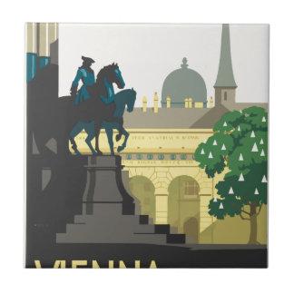 Vintage Travel Vienna Ceramic Tile