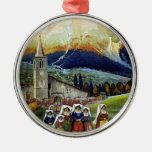 Vintage Travel, Women of Abruzzo, Italy Christmas Ornaments