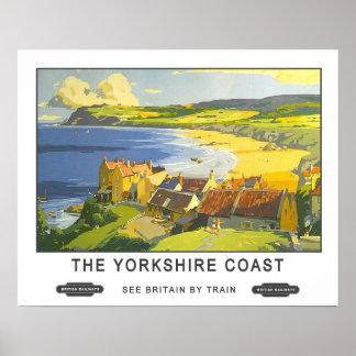 Vintage Travel Yorkshire Coast Print