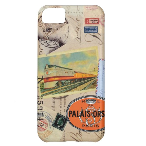 Vintage traveler stamps iphone case case for iPhone 5C
