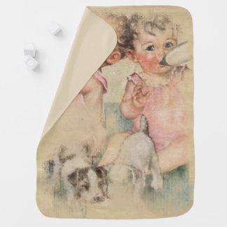Vintage Treasure Receiving Blanket