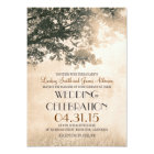 Vintage Tree and Love Birds Rustic Country Wedding Card