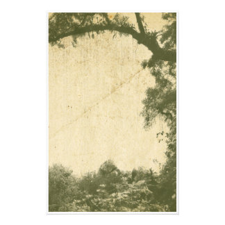 Vintage Tree Background Stationery Paper