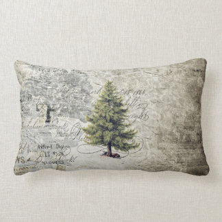 Vintage Tree Holiday Pillow